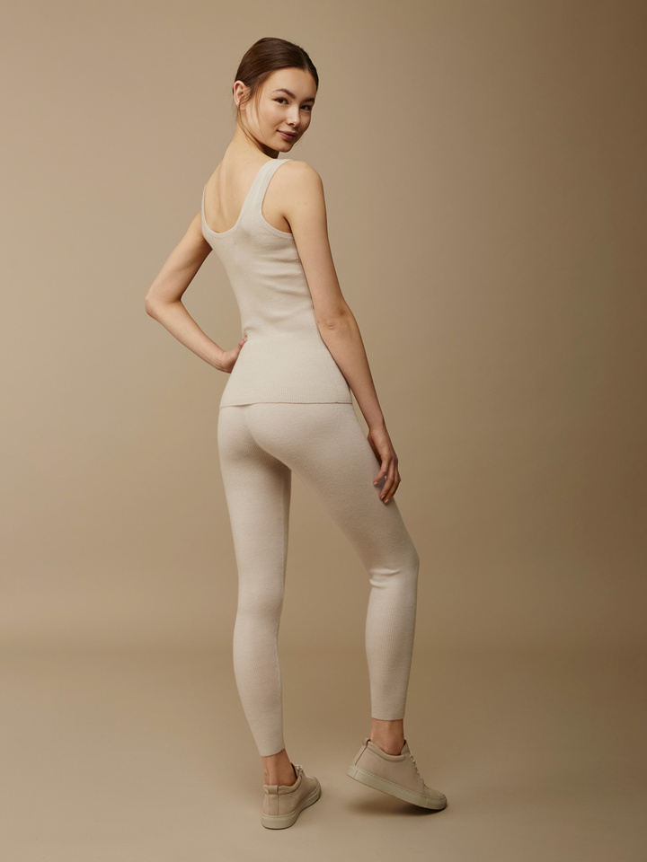 Soft Goat Women's Fine Knit Tights Beige