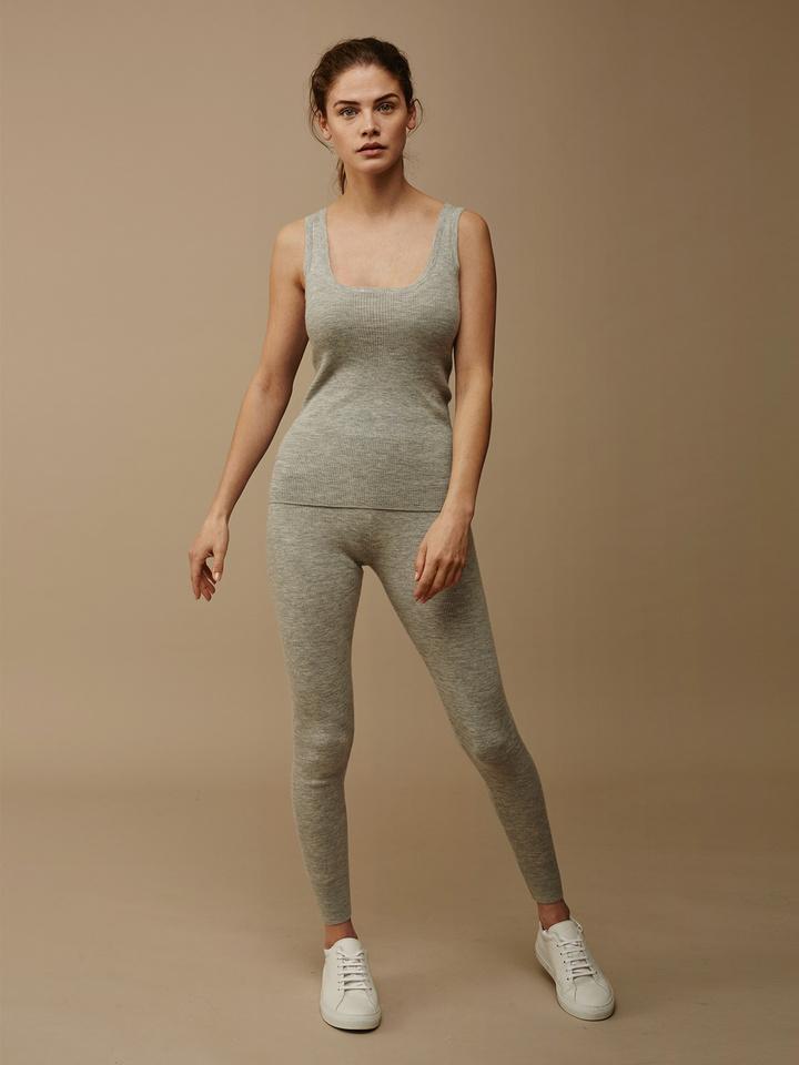 Soft Goat Women's Fine Knit Tights Light Grey