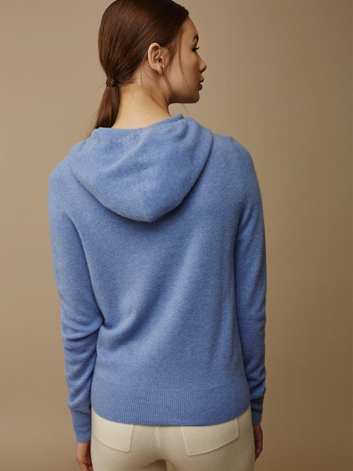 Soft Goat Women's Hoodie Aqua Blue