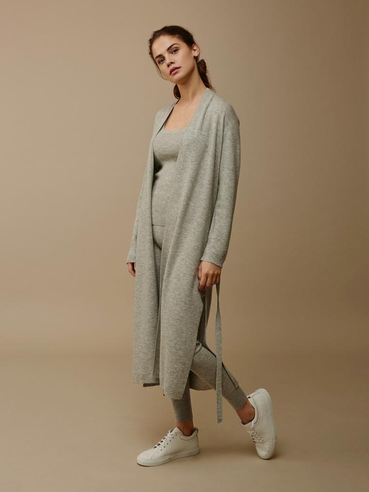 Thumbnail Women's Long Fine Knit Cardigan