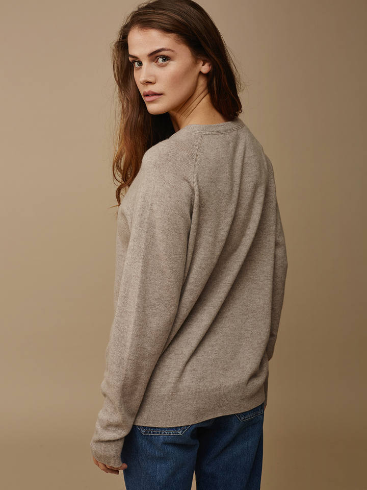 Soft Goat Women's Loose Fit Sweater Light Taupe