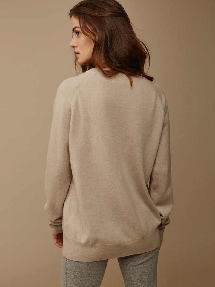 Soft Goat Women's Loose Fit Sweater Sand