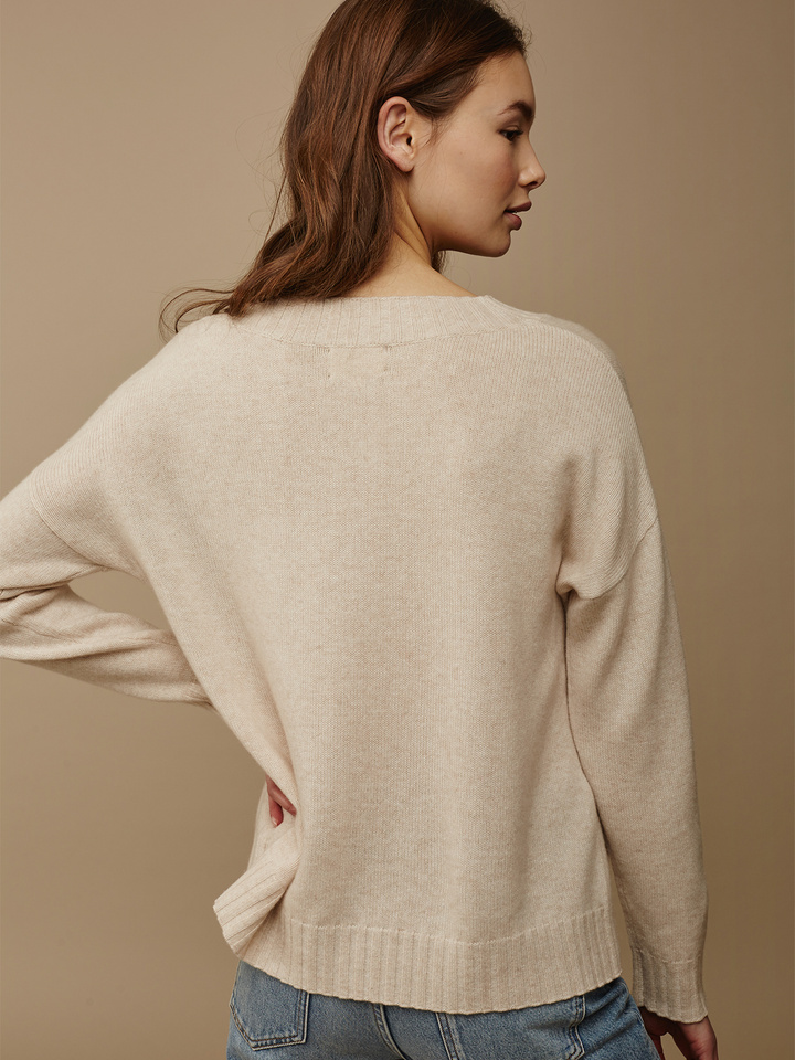 Soft Goat Women's Relaxed Sweater Beige