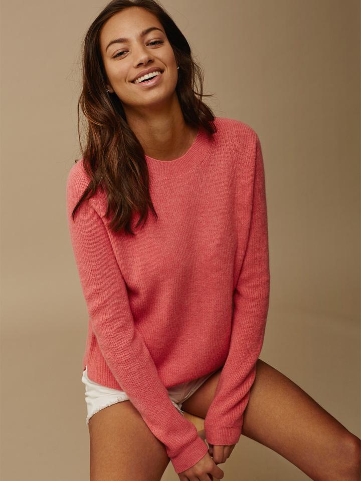 Soft Goat Women's Ribbed Sweater Summer Sunset