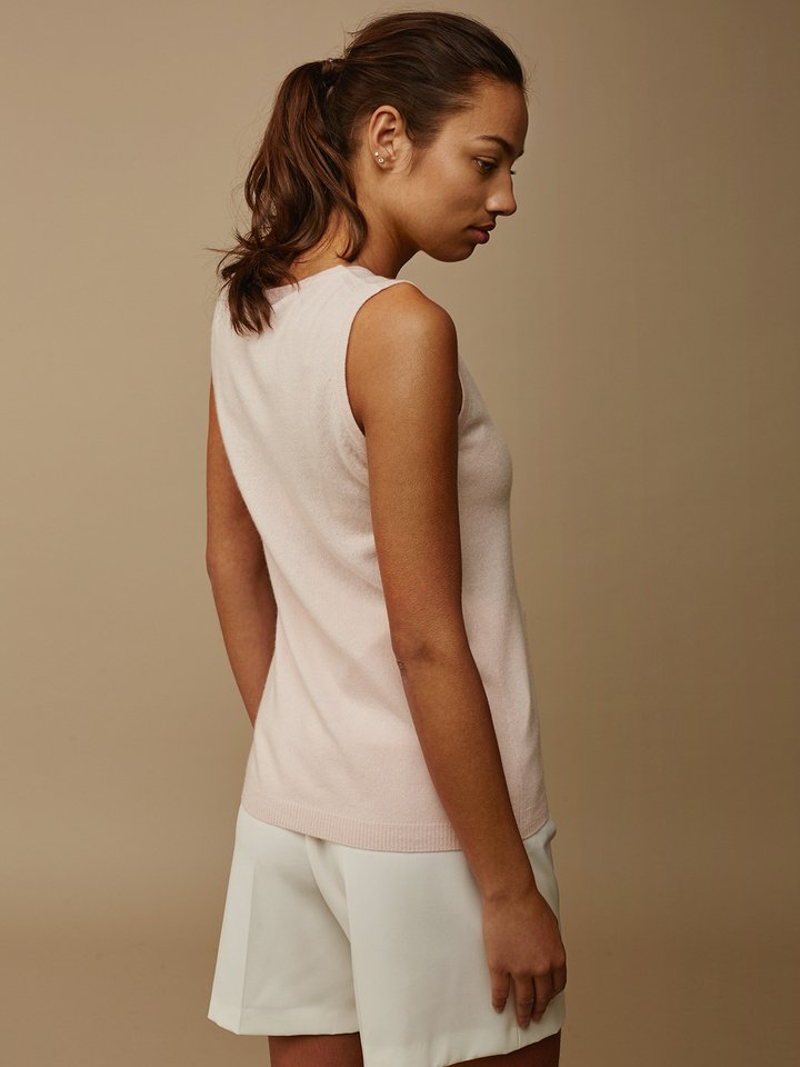Soft Goat Women's Singlet Powder Pink