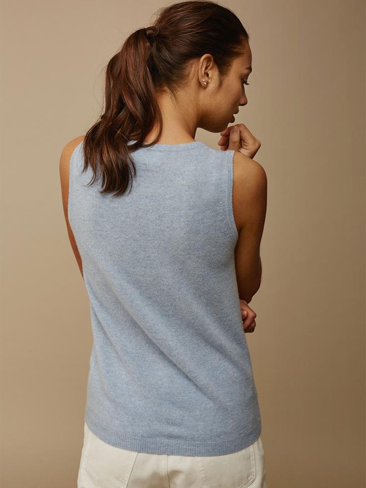 Soft Goat Women's Singlet Light Blue
