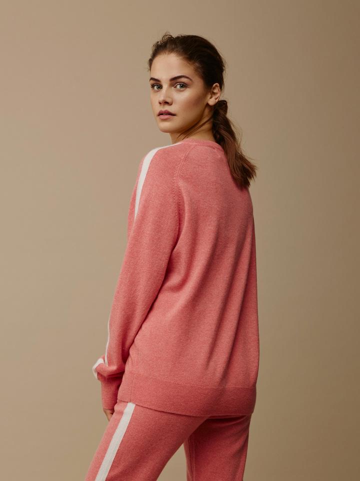Soft Goat Women's Striped Sweater Summer Sunset