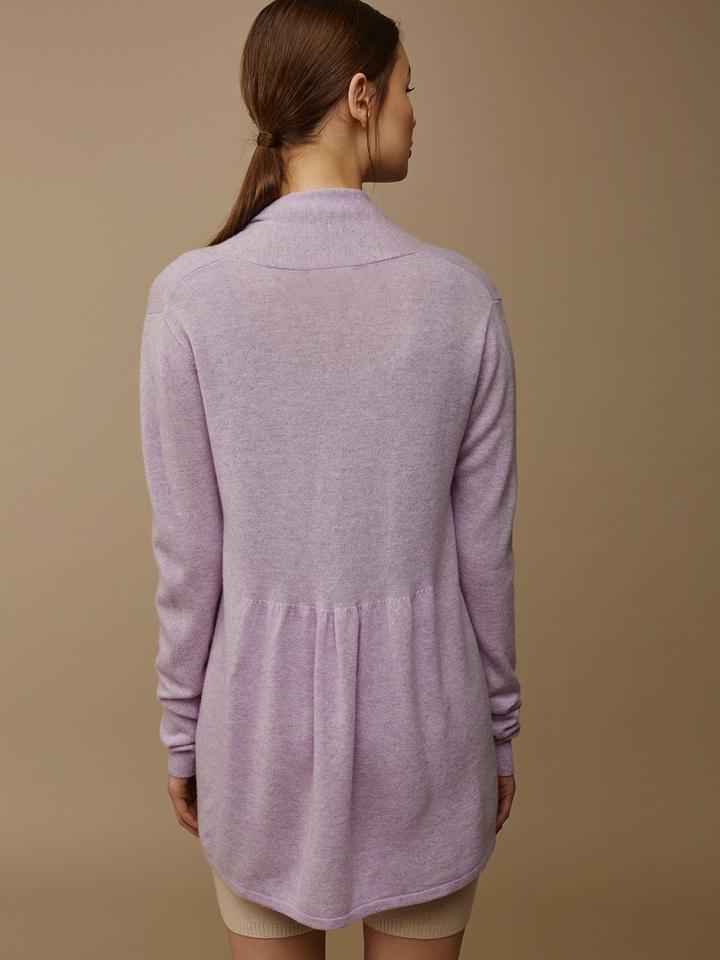Soft Goat Women's Waterfall Cardigan Light Lavender