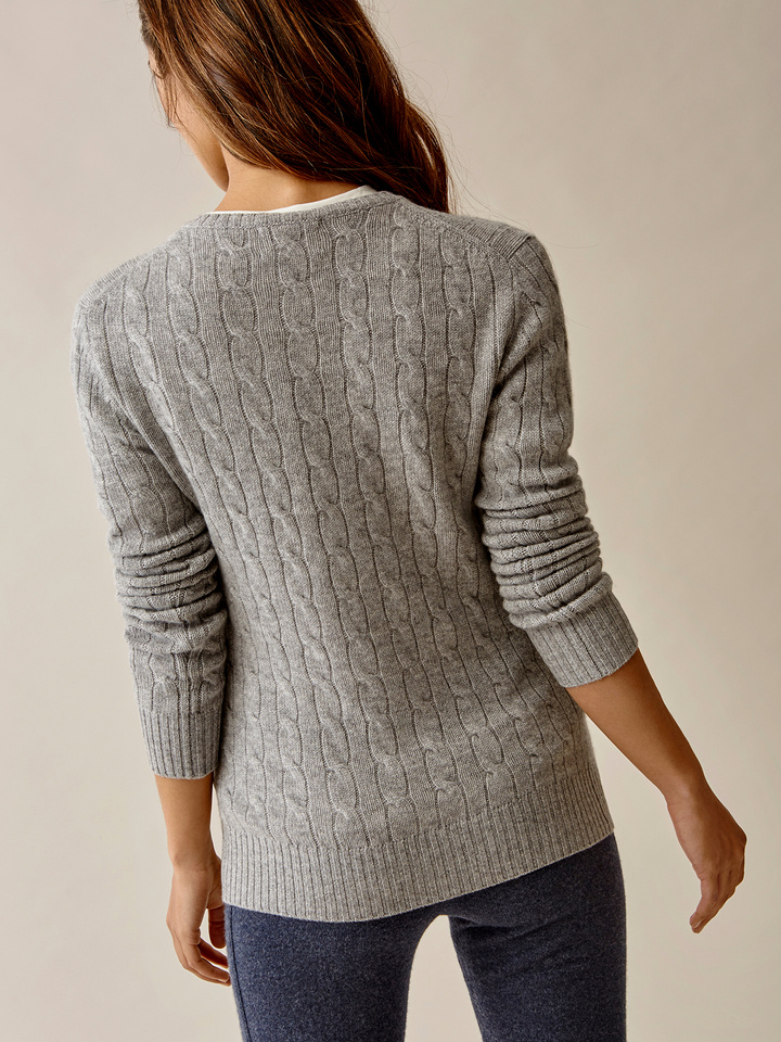 Thumbnail Cable Knit Grey