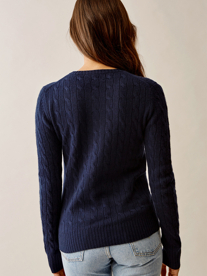 Thumbnail Cable Knit Navy