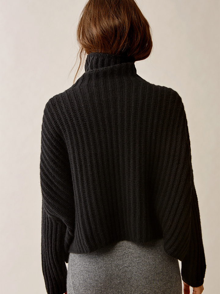 Thumbnail Ribbed High Neck