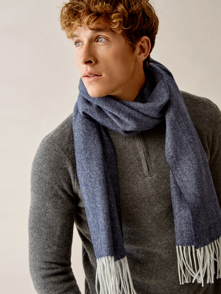 Thumbnail Men's Herringbone Scarf