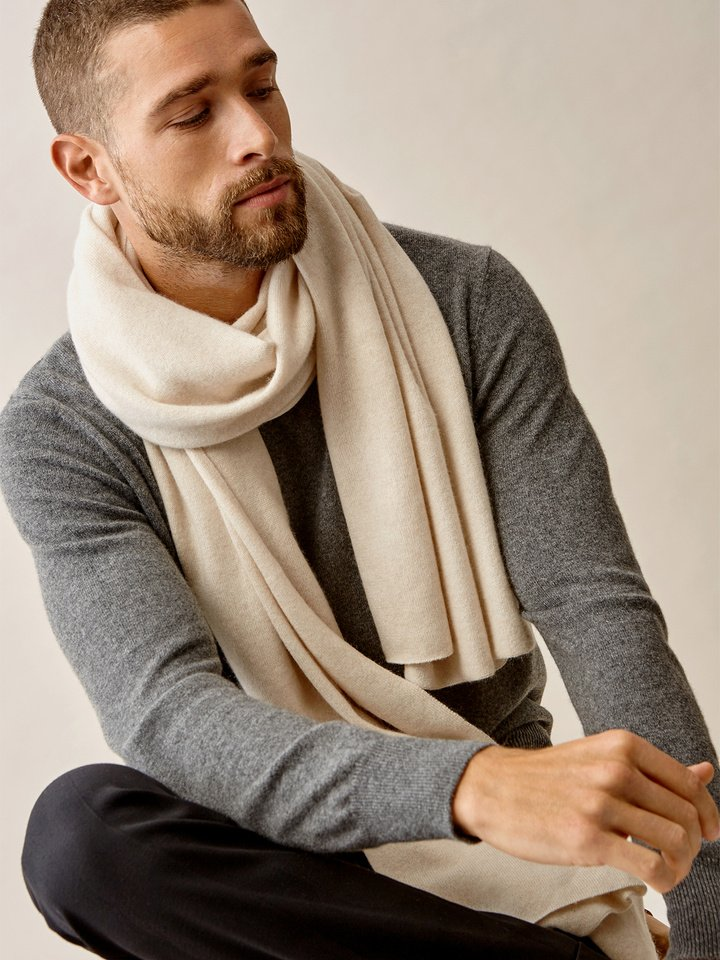 Thumbnail Men's Plain Knitted Scarf