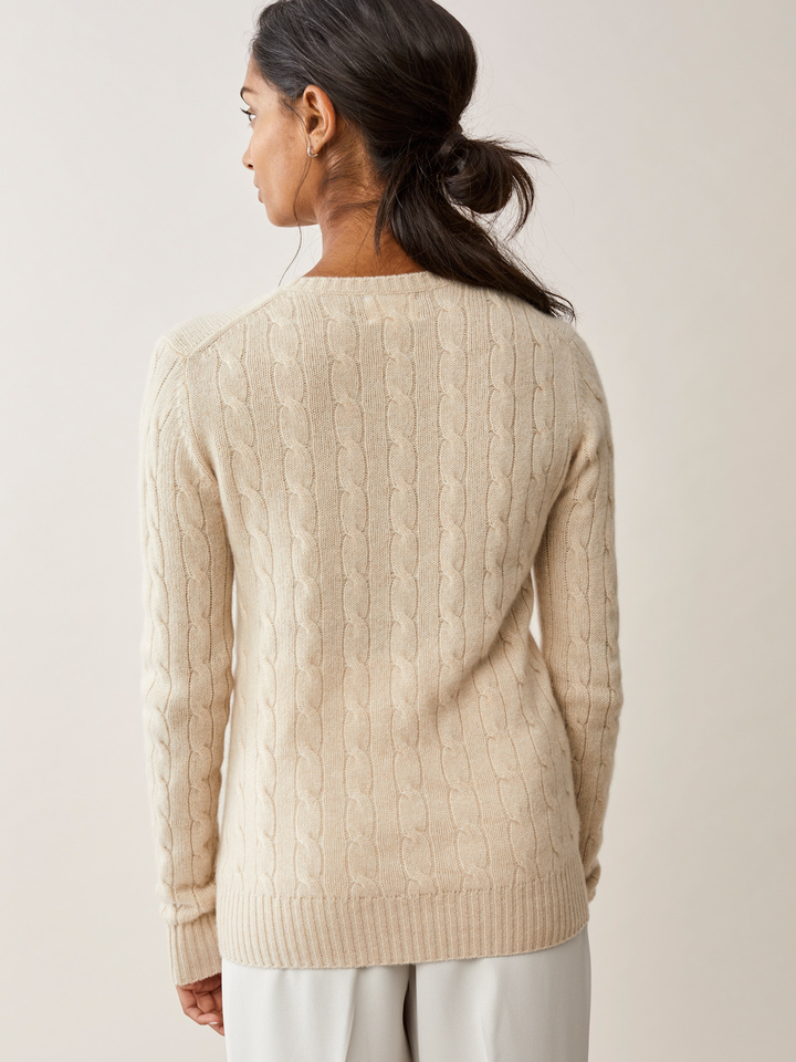 Thumbnail Cable Knit Beige