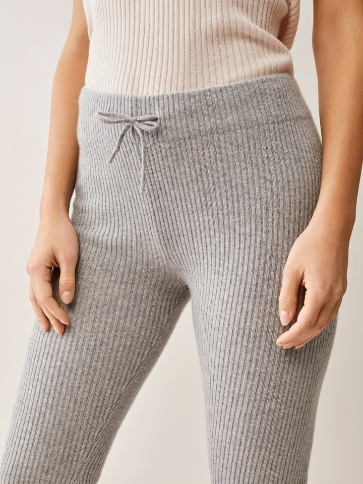 Thumbnail Ribbed Cropped Pants