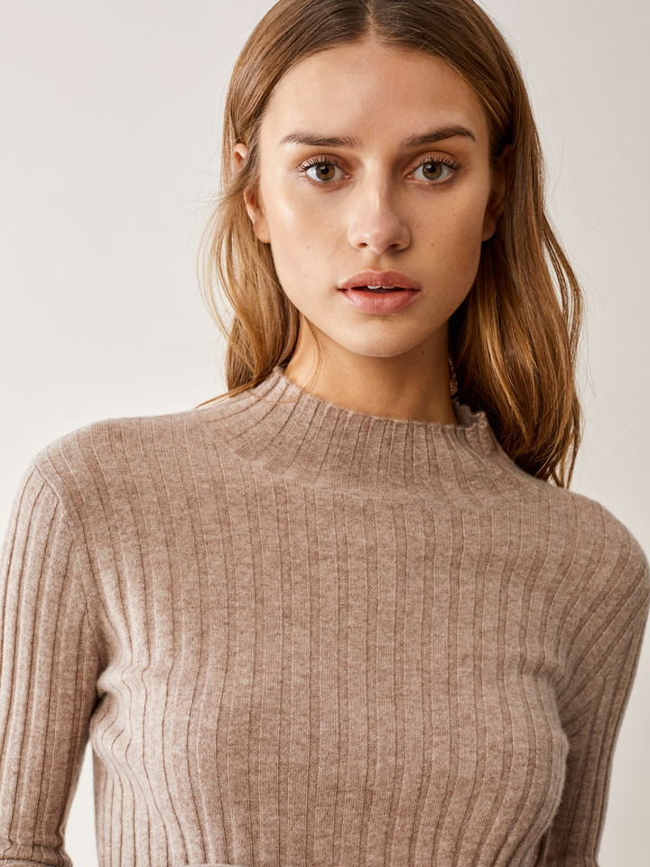 Thumbnail Ribbed Half Turtle Neck