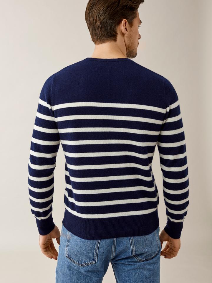 Thumbnail Men's Striped O-neck