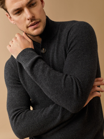 Russian Style High Quality Men's Winter Camel Wool Cashmere