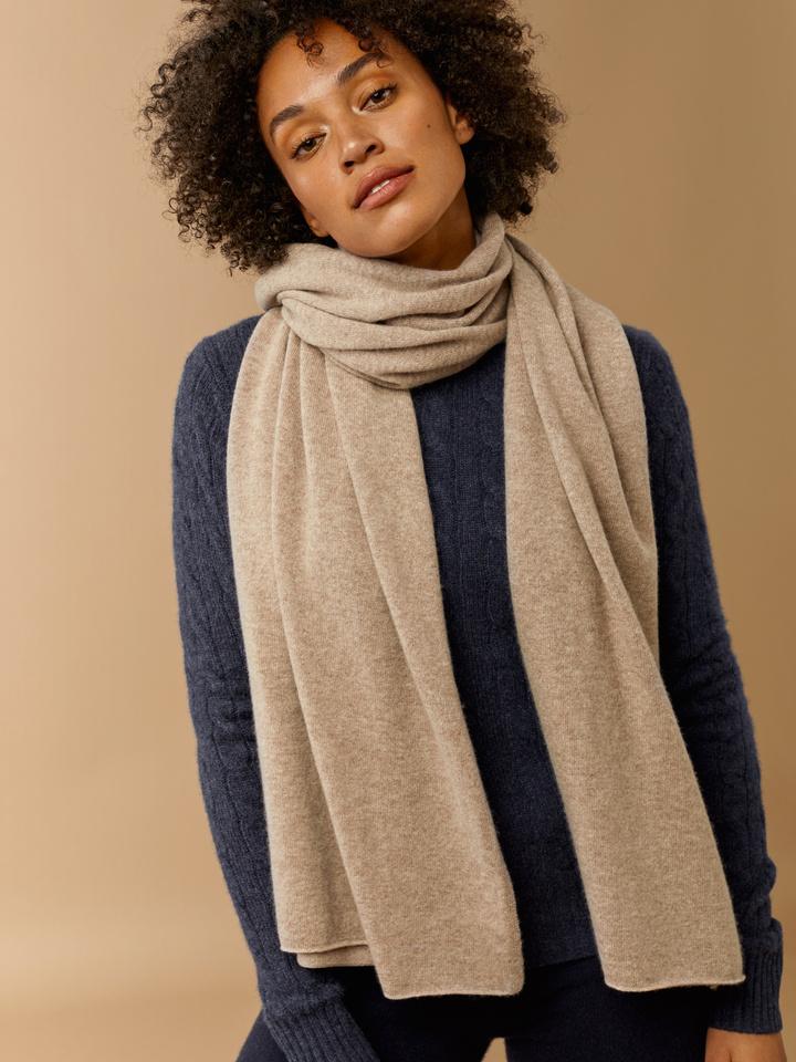 Thumbnail Plain Knitted Scarf