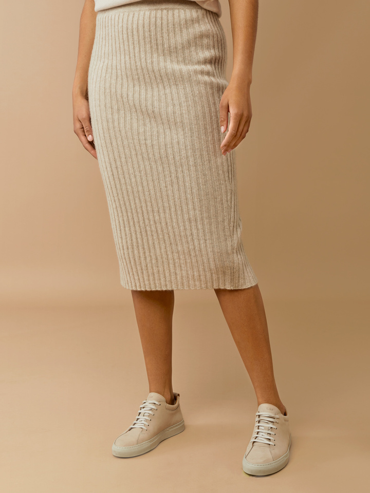 Thumbnail Ribbed Midi Skirt
