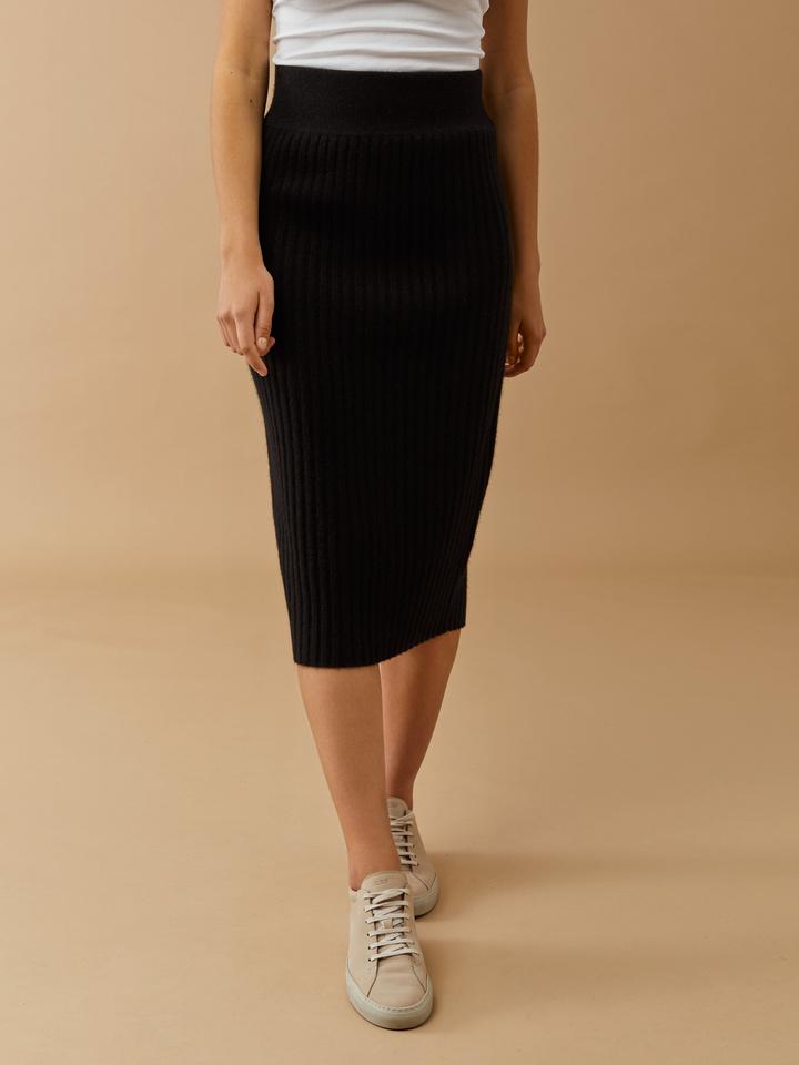 Thumbnail Ribbed Midi Skirt