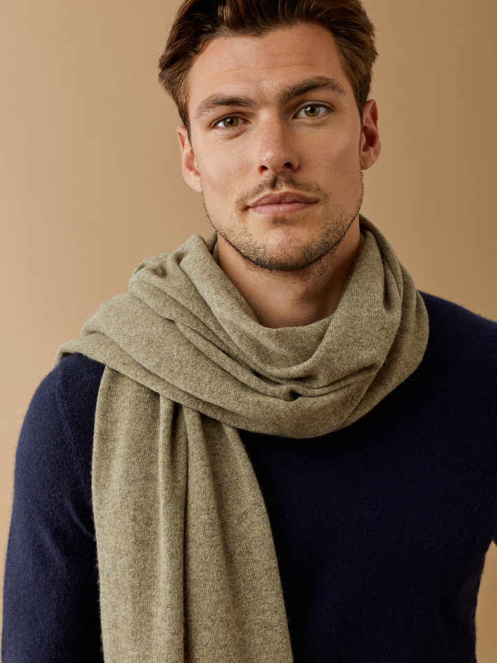 Thumbnail Plain Knitted Scarf