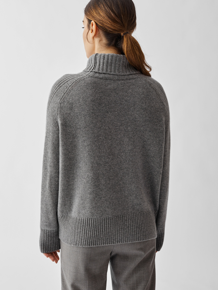 Thumbnail Side Rib Turtle Neck