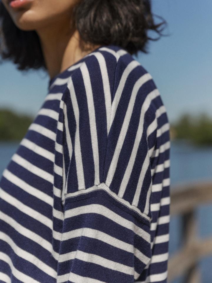 Thumbnail Striped O-neck