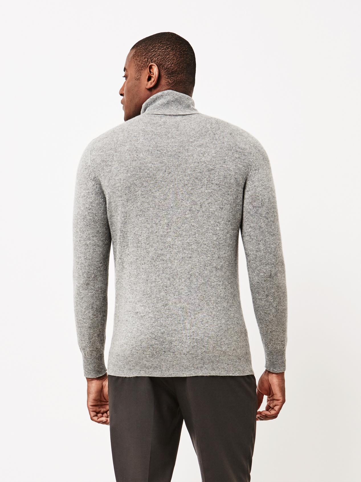Soft Goat Men's Turtle Neck Dark Grey