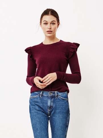 Product thumbnail of Women's Ruffle Shoulder Sweater