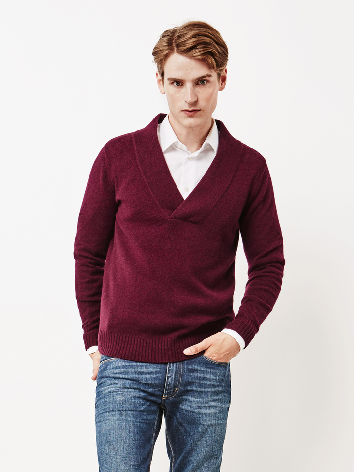 Thumbnail Men's Chunky V-neck Sweater