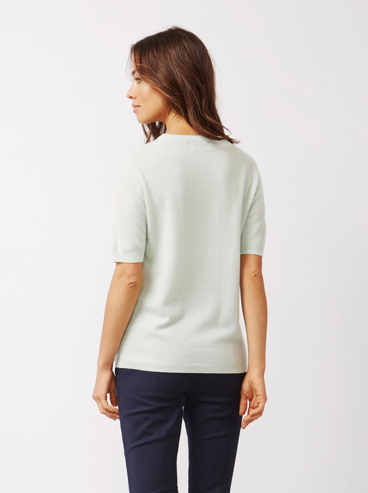Soft Goat Women's Short Sleeve O-Neck Sorbet Mint