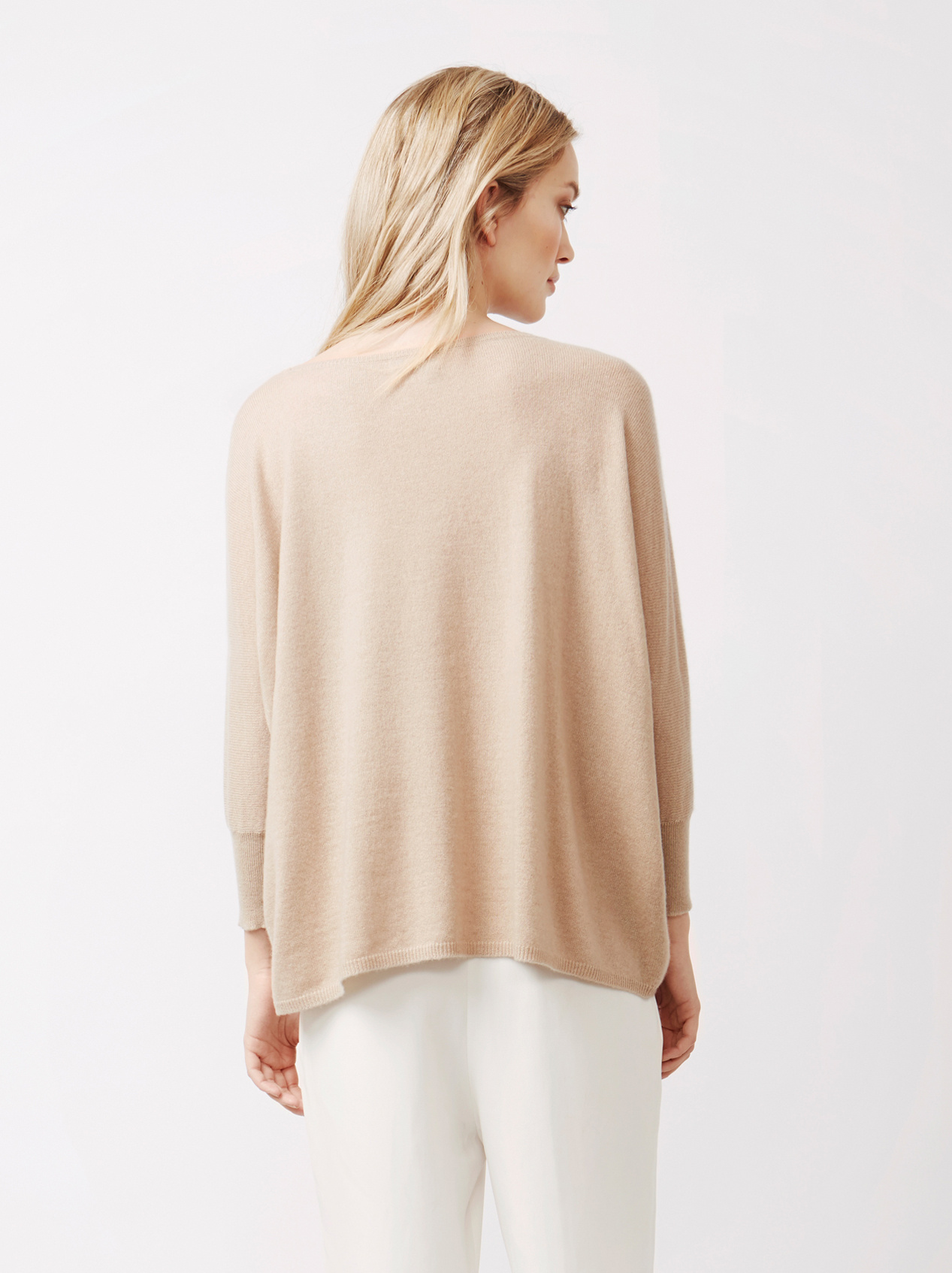 Soft Goat Women's Short Sleeve Poncho Sand