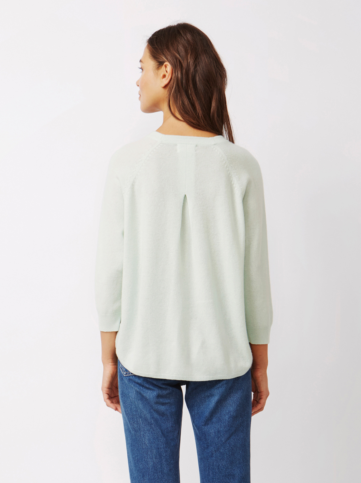 Soft Goat Women's Rounded Sweater Sorbet Mint