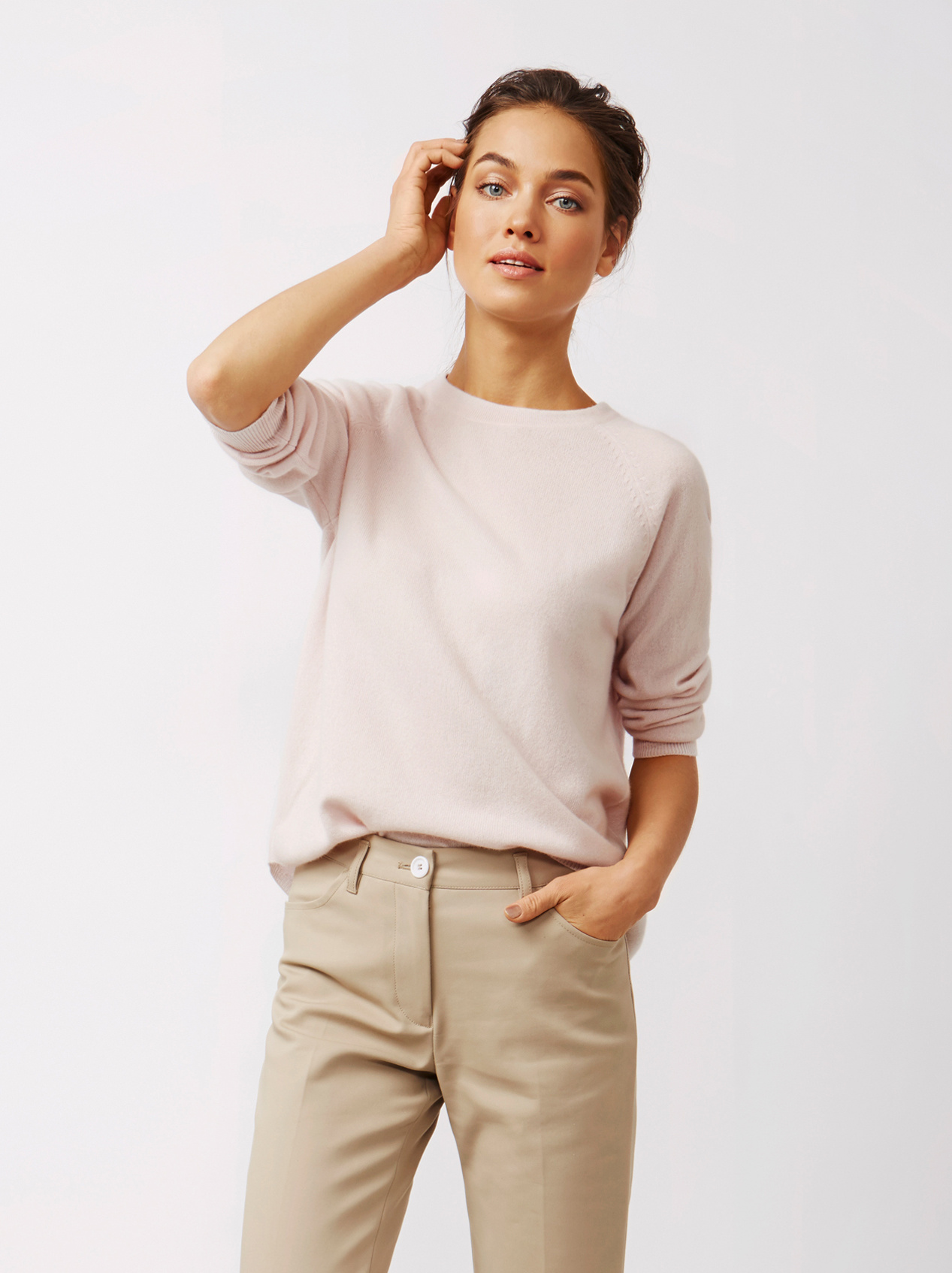 Soft Goat Women's Rounded Sweater Marshmallow