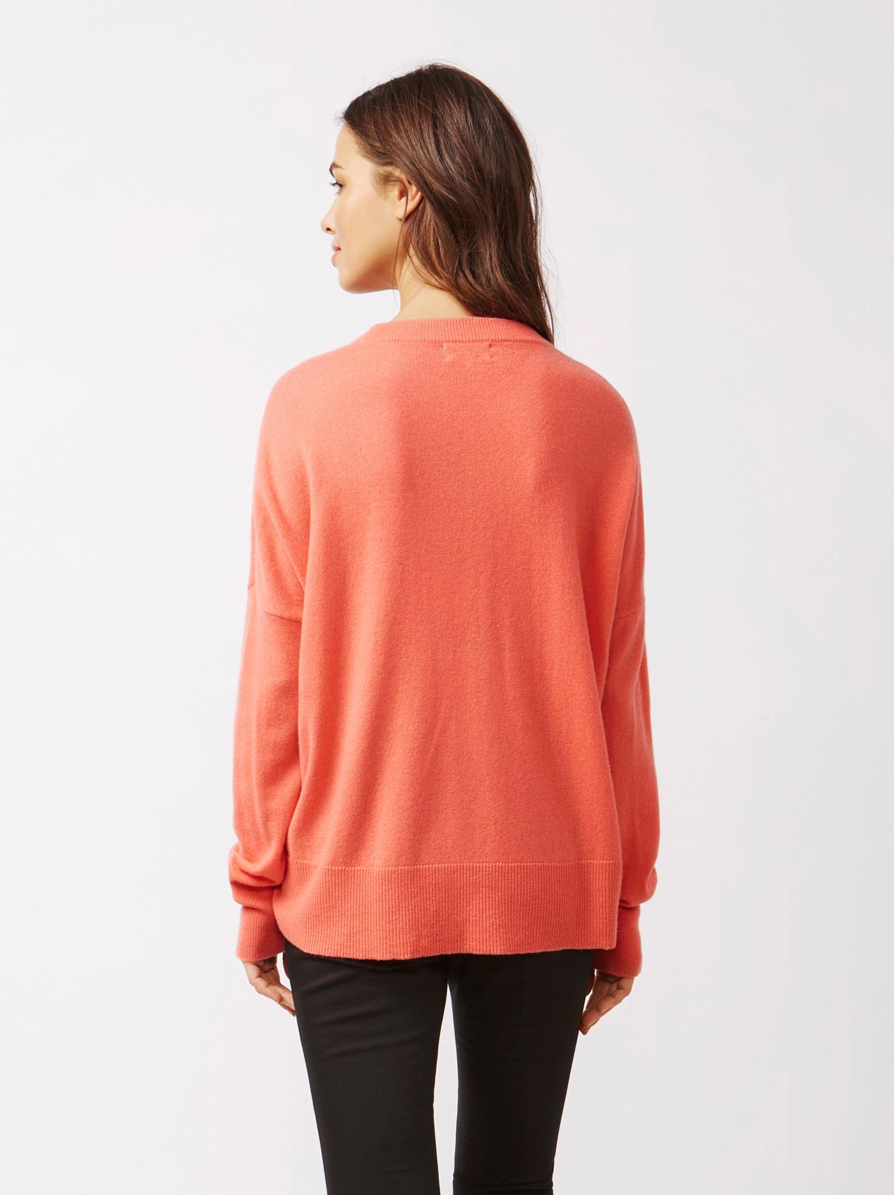 Soft Goat Women's Boyfriend Sweater Tropicana