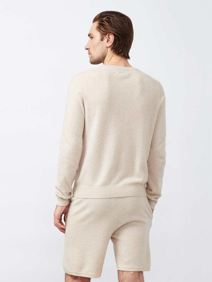 Soft Goat Men's Hiljemark College Sweater Beige
