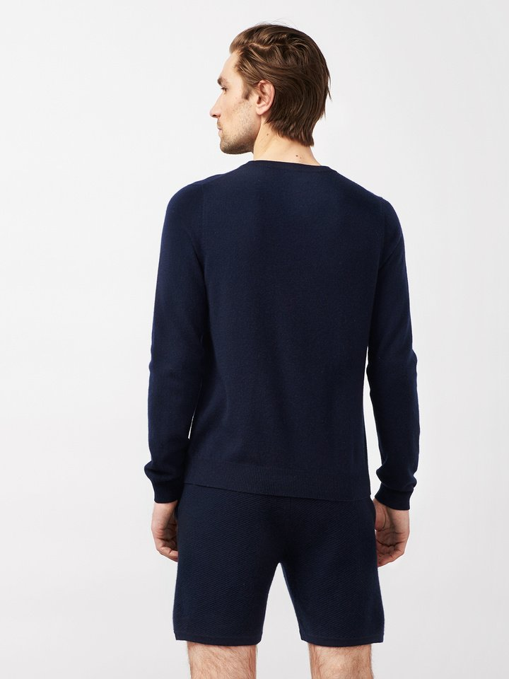 Soft Goat Men's Hiljemark College Sweater Navy