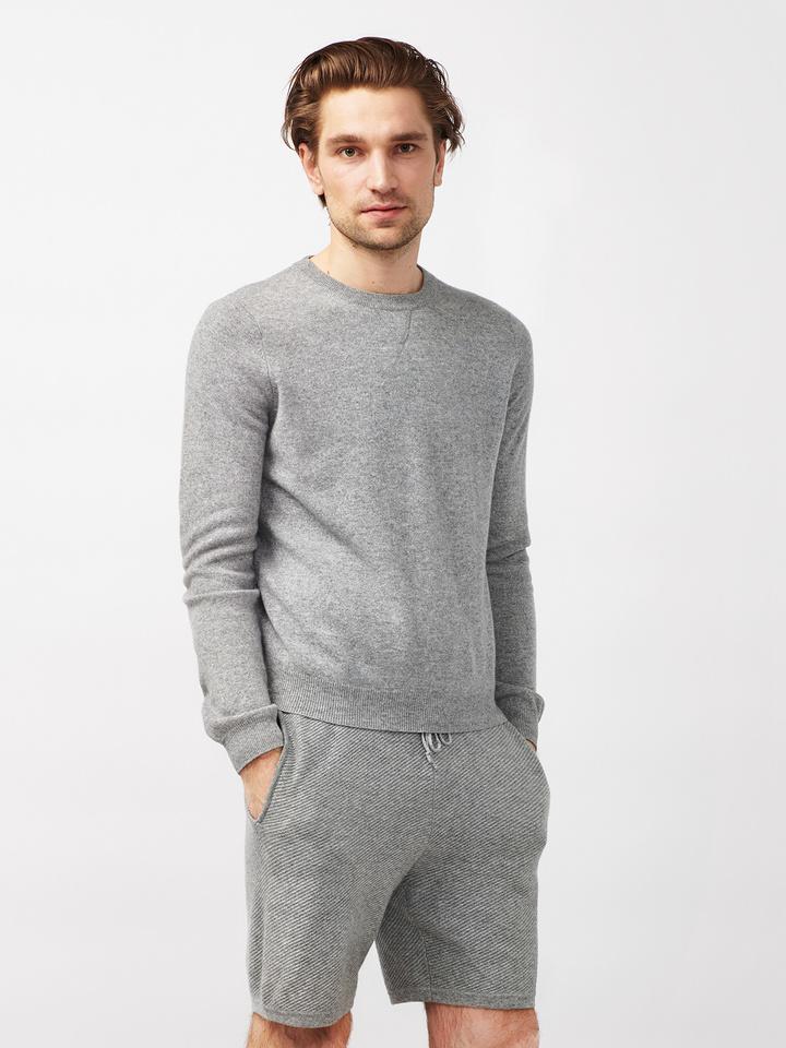 Soft Goat Men's Hiljemark College Sweater Dark Grey
