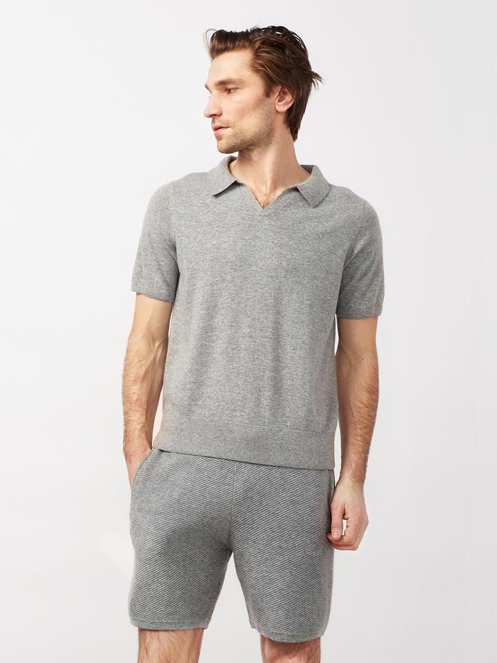 Soft Goat Men's Hiljemark Pique Dark Grey