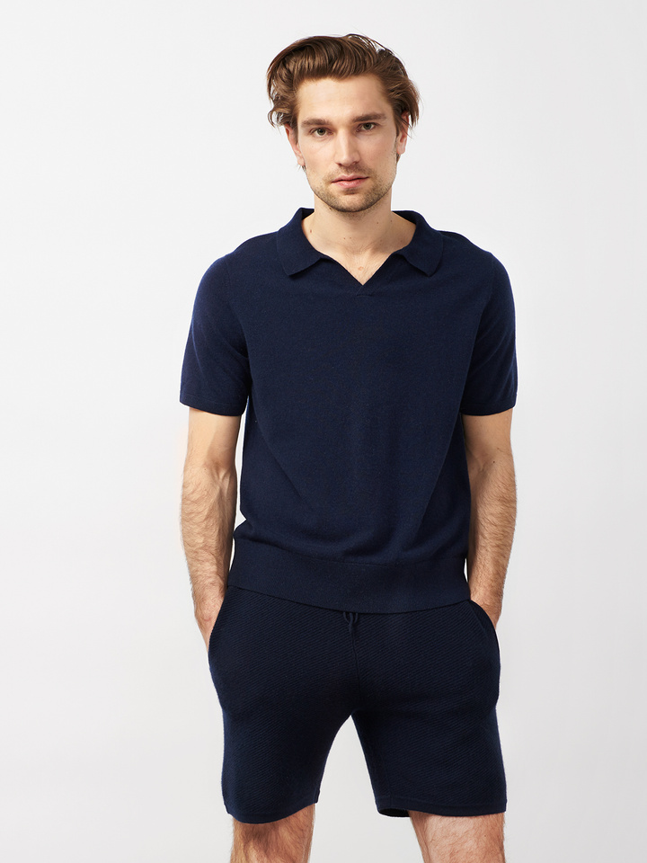 Soft Goat Men's Hiljemark Pique Navy