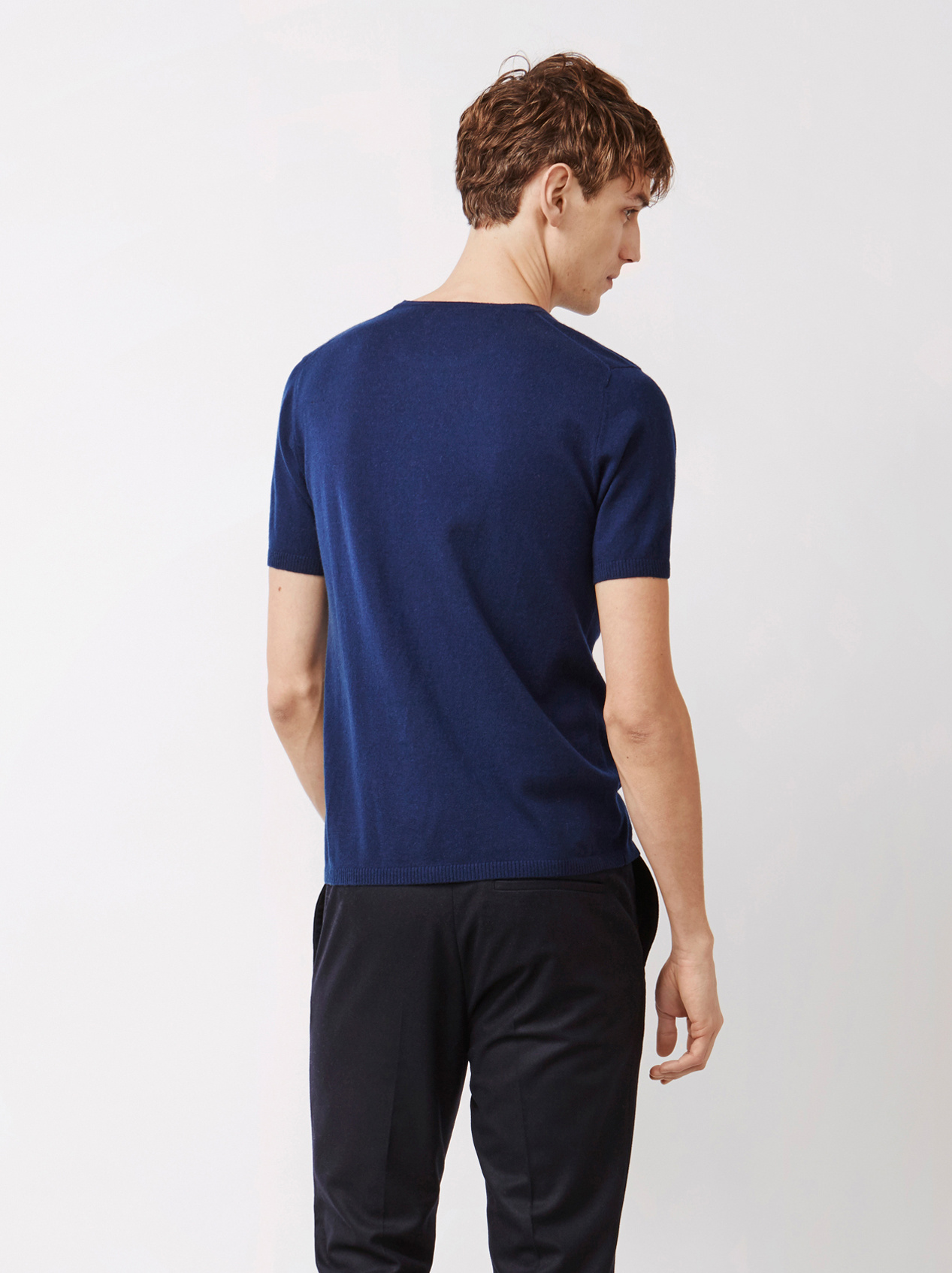 Soft Goat Men's T-Shirt With Pocket Navy