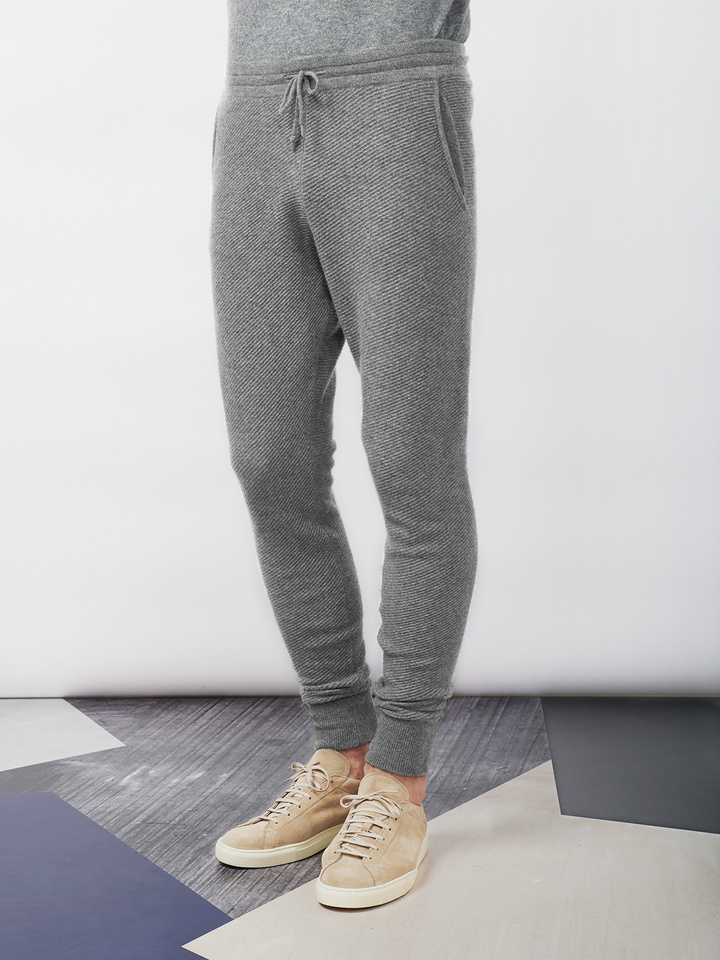 Soft Goat Men's Hiljemark Pants Dark Grey