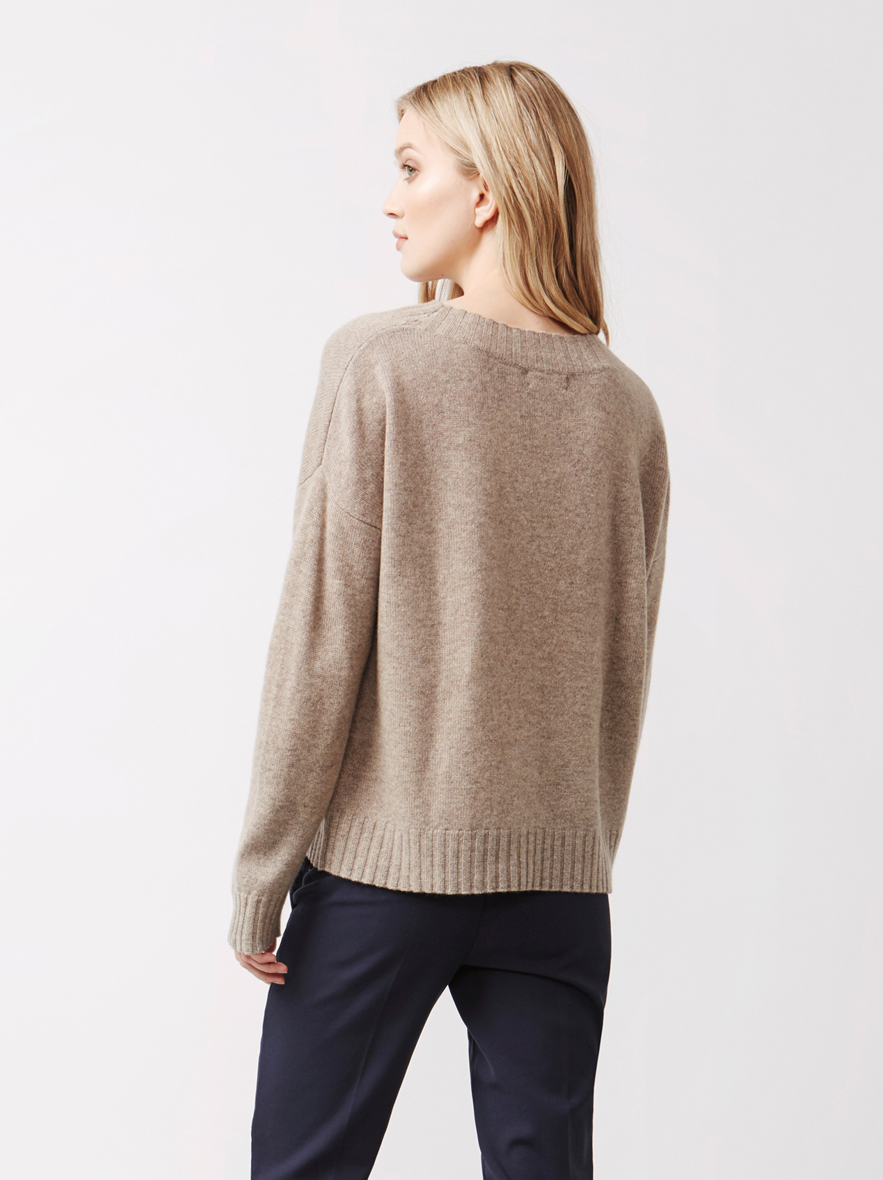 Soft Goat Women's Relaxed Sweater Taupe