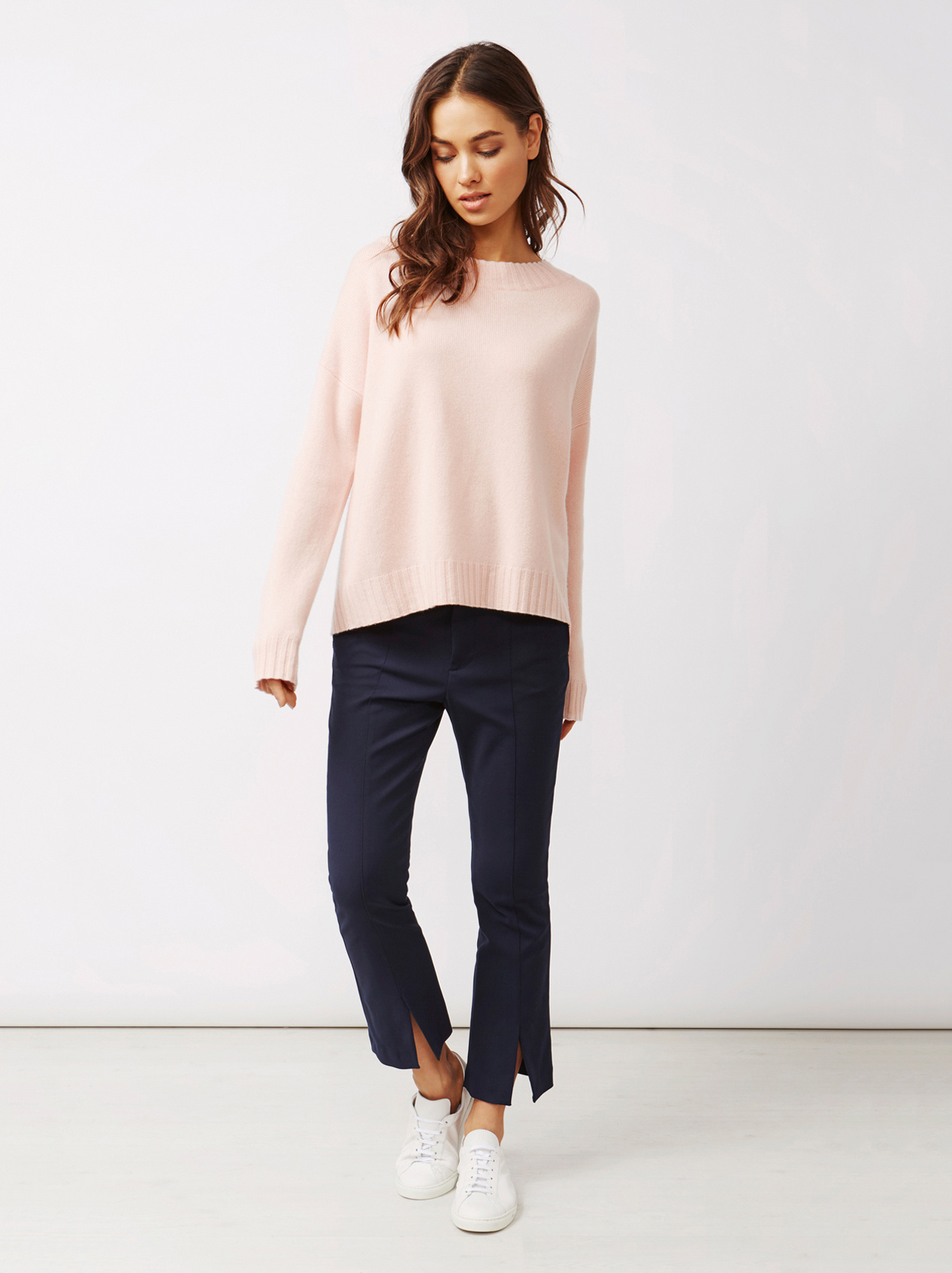 Soft Goat Women's Relaxed Sweater Powder