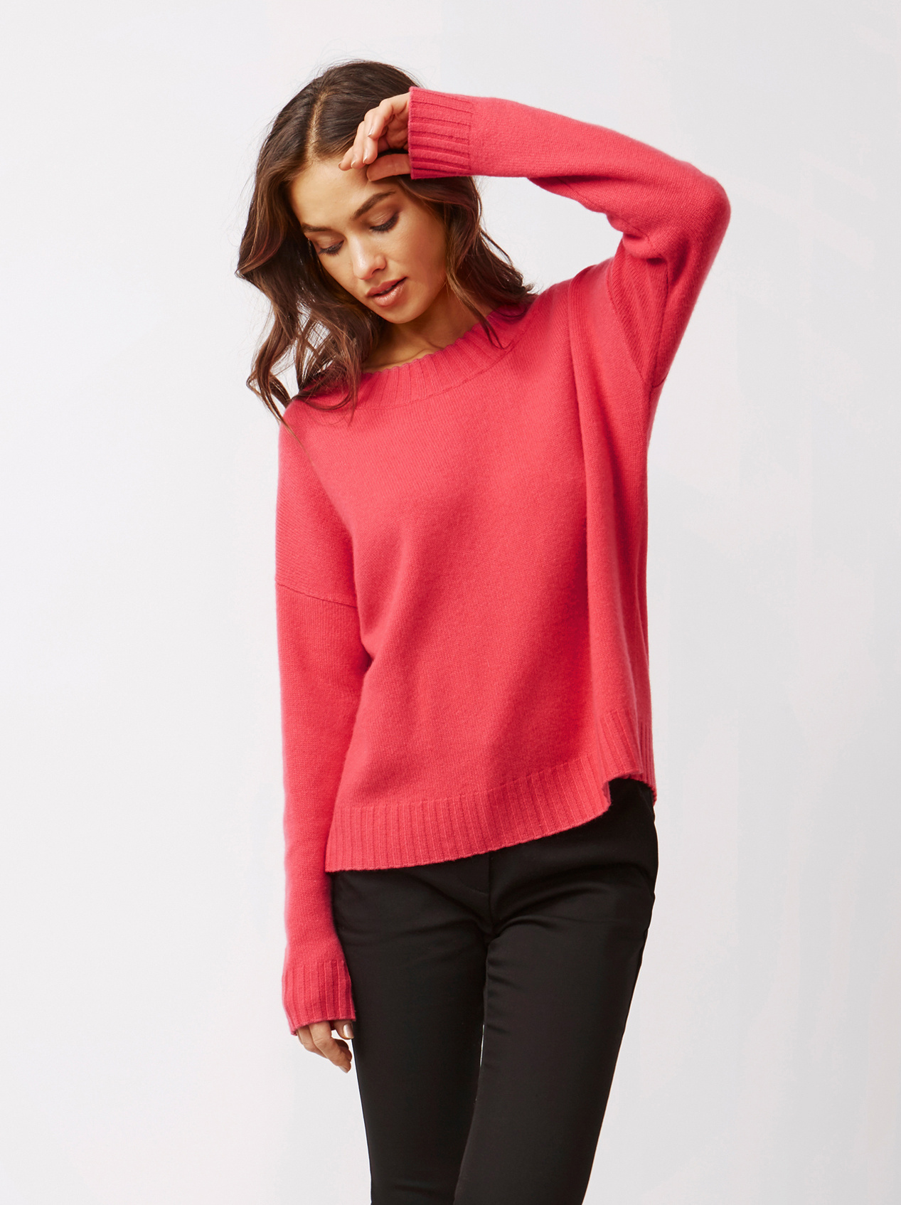 Soft Goat Women's Relaxed Sweater Very Berry