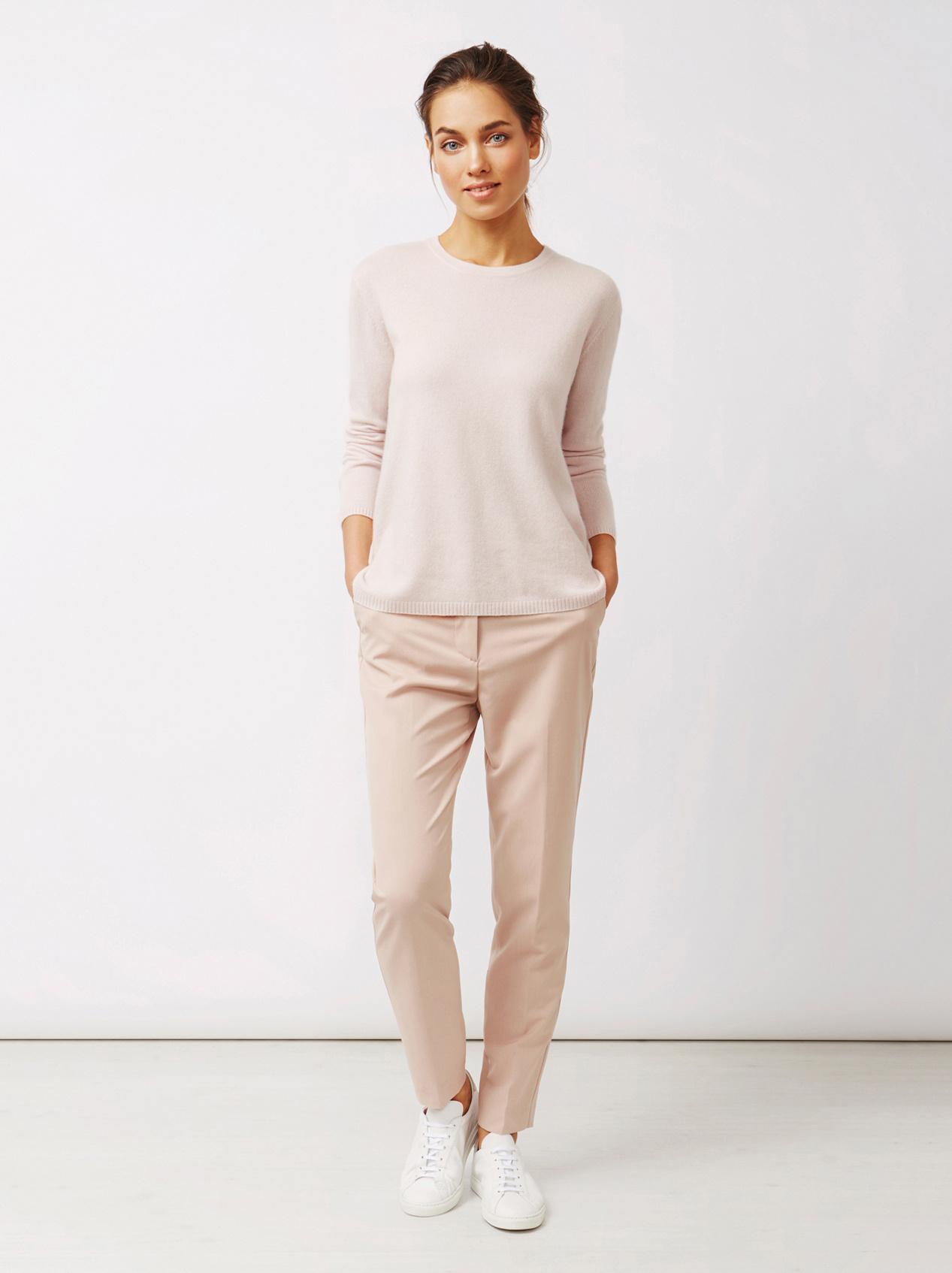 Soft Goat Women's Crossed Back Sweater Marshmallow