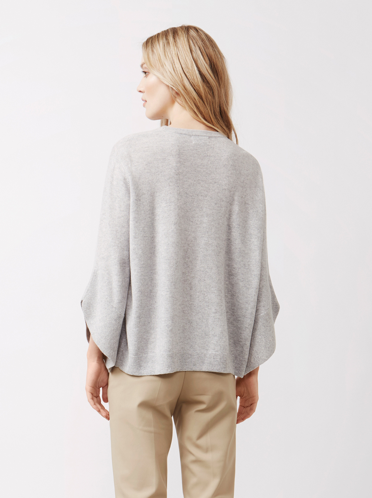 Soft Goat Women's Tulip Arm Sweater Light Grey