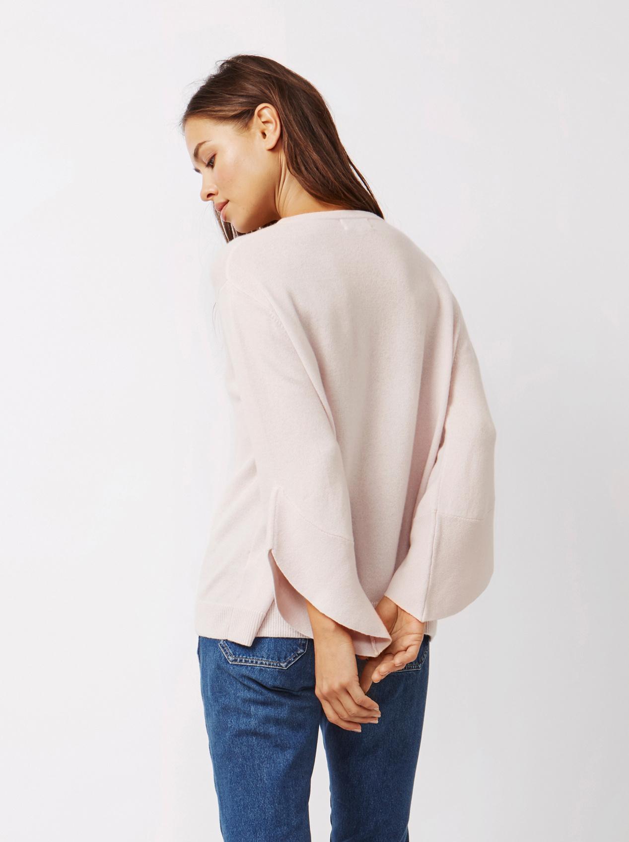 Soft Goat Women's Tulip Arm Sweater Marshmallow