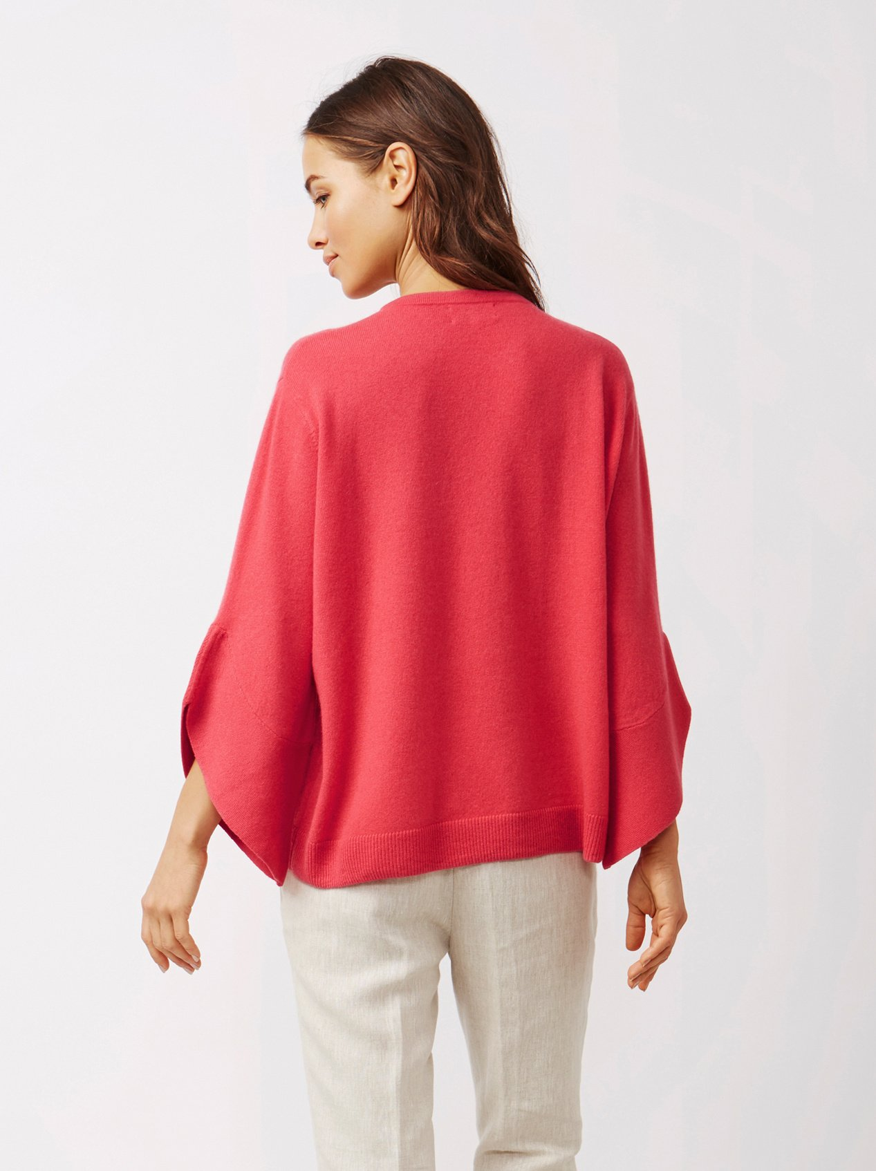 Soft Goat Women's Tulip Arm Sweater Very Berry